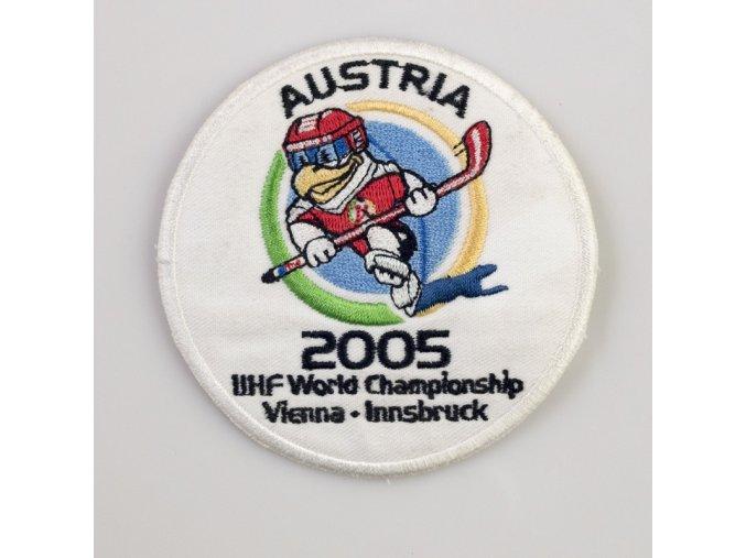 Nášivka MS hokej Austria 2005