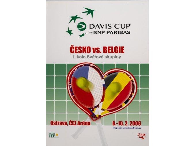 Official Program Davis Cup, CZ v. Belgie, 2008