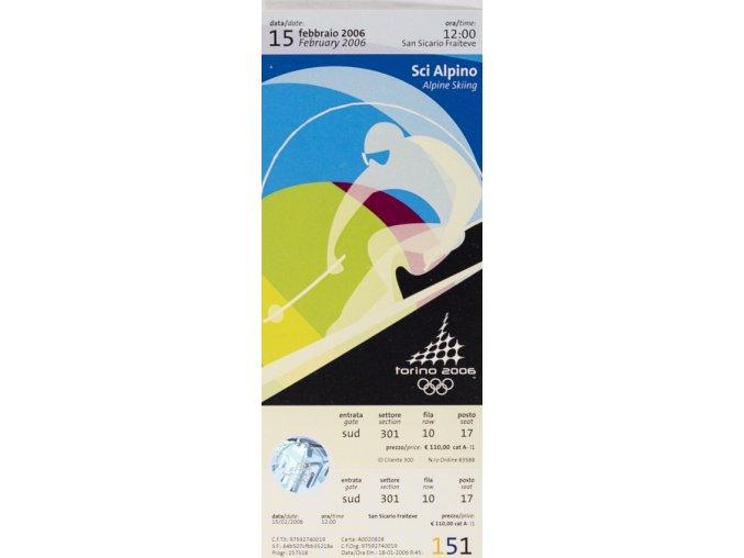 Vstupenka OG Torino 2006, Alpin Skiing, 15