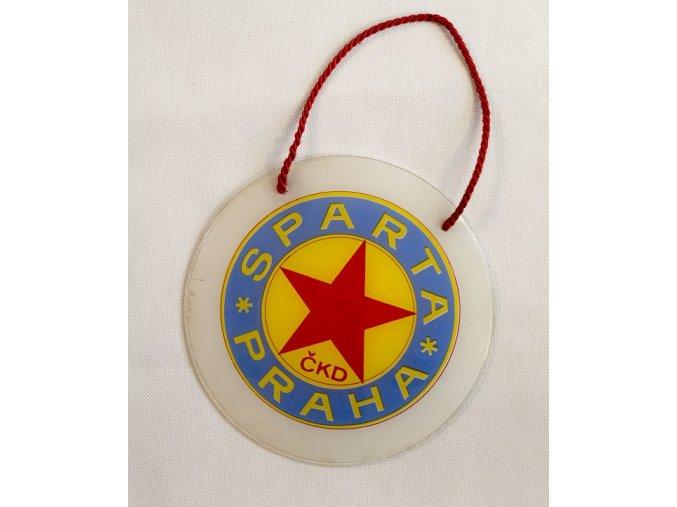 Závěsné skleněné logo SPARTA PRAHA ČKD 1
