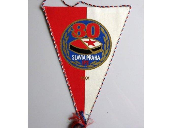 Vlajka klubová Slavia Praha IPS- hokej