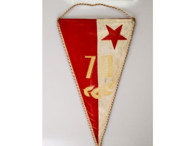 Klubová vlajka 70 let SK SLAVIA PRAHA