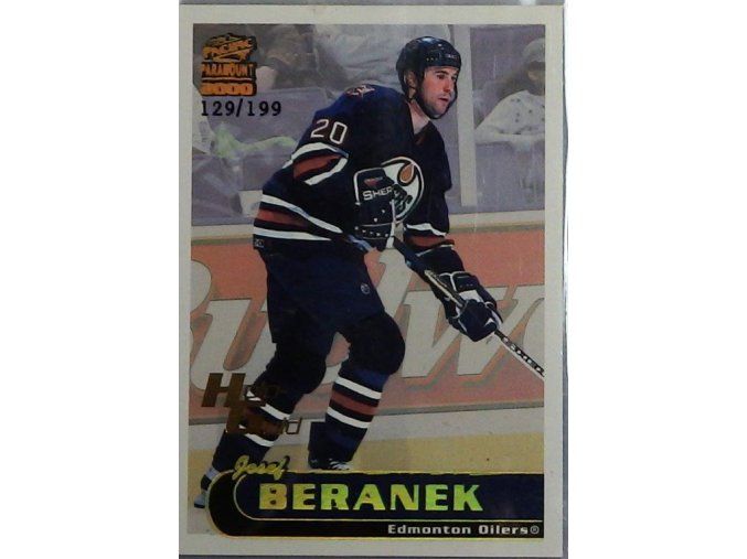 Josef Beránek Edmonton Oilers 2000  hokejová kartička