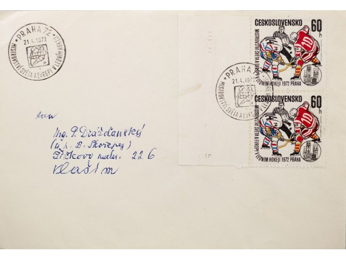 CELISTVOST MS hokej 1972 Praha