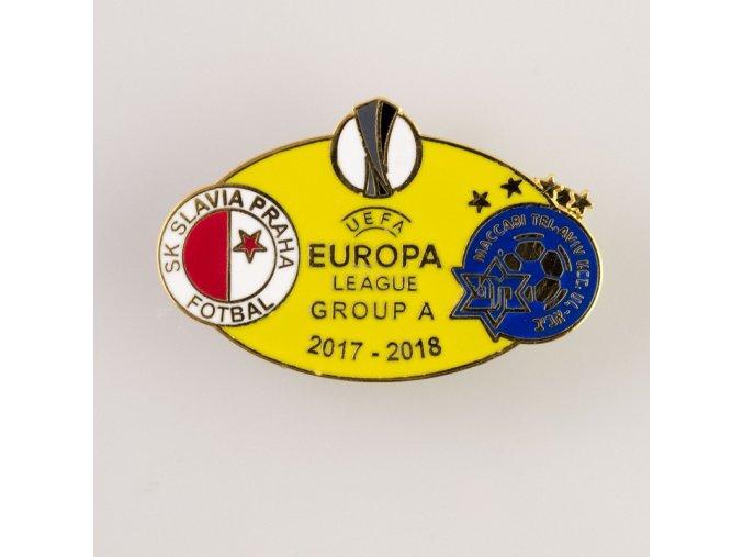 Odznak smalt Europa league 2017 2018 Group A SLAVIA vs. MACABI YEL 1