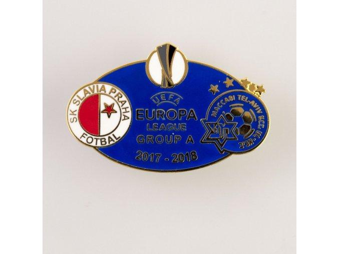 Odznak smalt Europa league 2017 2018 Group A SLAVIA vs. MACABI YEL