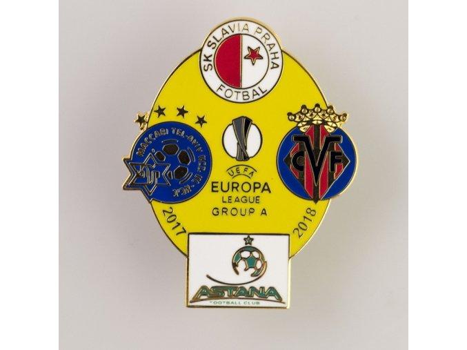 Odznak smalt Europa league 2017 2018 Group A YEL