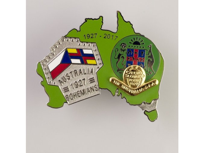 Odznak 1927 Australia vs. Boheminas 1927 2017