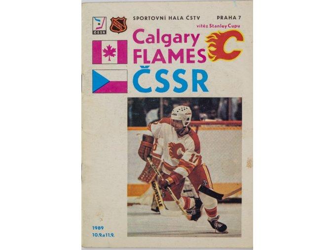 Program ČSSR vs. Calgary Flames, 1989