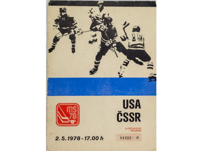 Program utkání ČSSR v. USA, MS 1978 Hokej