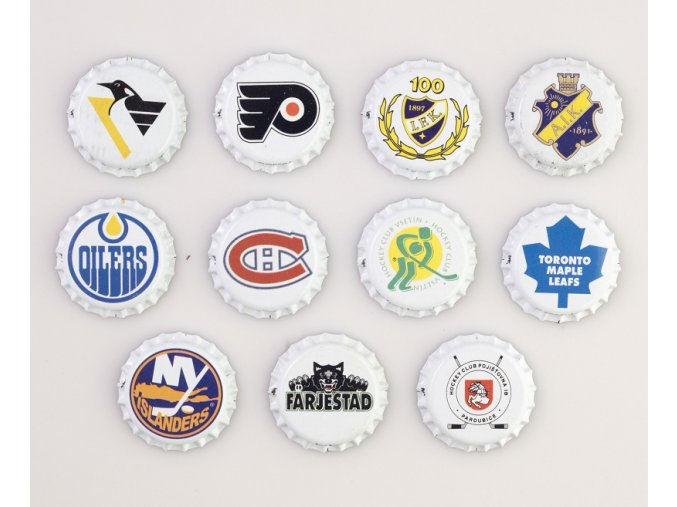 Pivní zátky 11 ks sportovní kluby