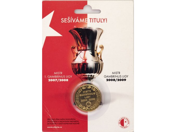 Pamětní mince Sešíváme tituly 2007 2009