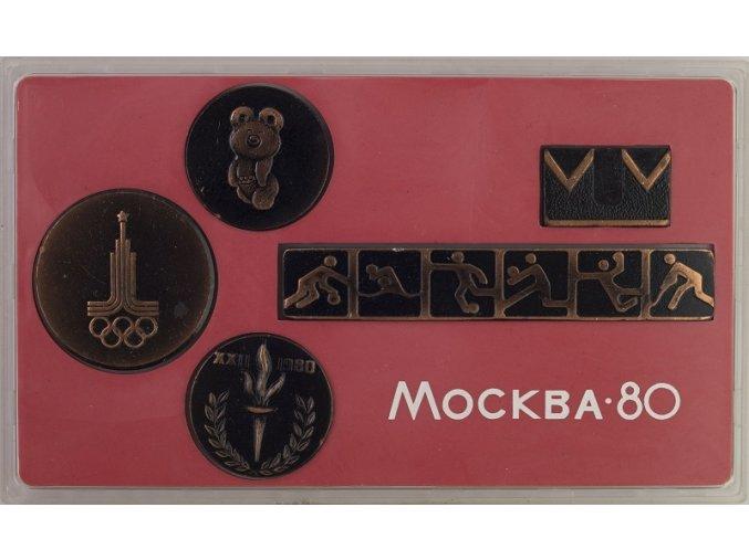 Sada emblémů Olympiáda 1980 Moscow