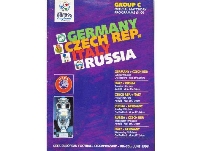Program Euro 96, Matchday programme, Group C, 1996