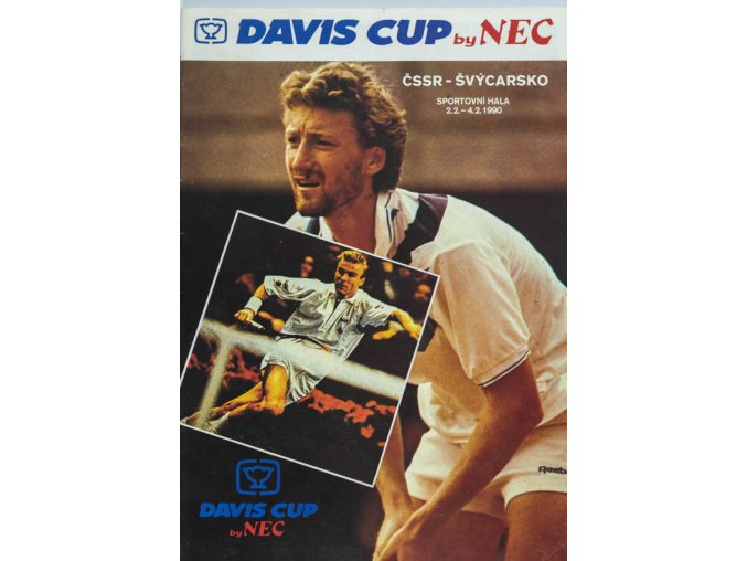Official Program Davis Cup, ČSSR v. Švýcarsko, 1990