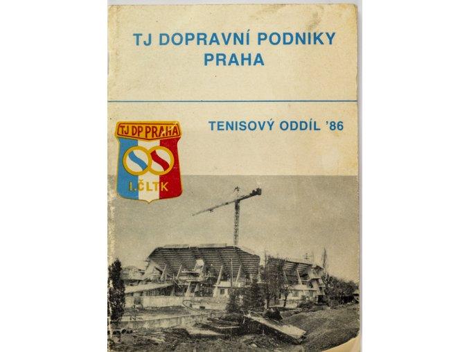 Ročenka , TJ dopravní podniky Praha, ČLTK, 1986