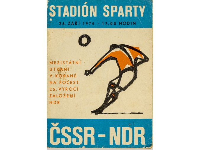 Program fotbal, ČSSR v. NDR, 1974