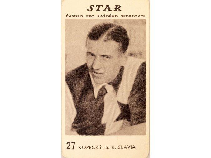 Kartička z časopisu STAR, 27 KOPECKÝ , S.K.SLAVIA