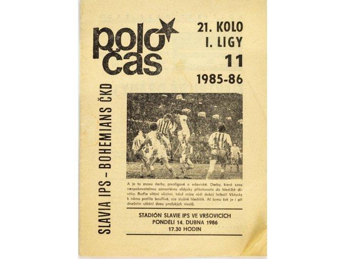 POLOČAS SLAVIA vs. Bohemians Praha, 1986 87