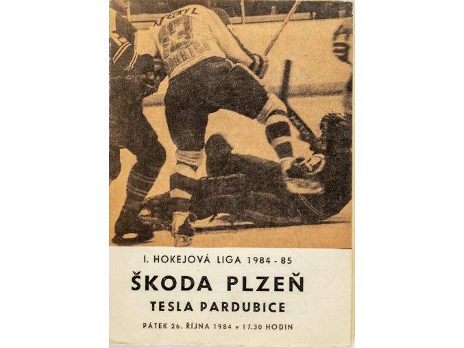 Program hokej, TJ Tesla Pardubice v. Škoda Plzeň, 1984