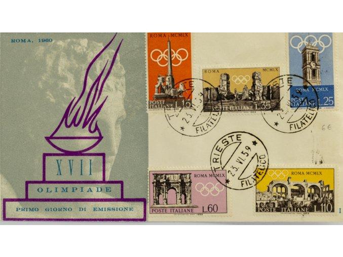 FDC XVII Olimpiade, Roma, 1960