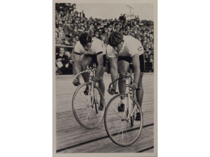 Kartička Olympia 1936, Berlin. Toni Merkens