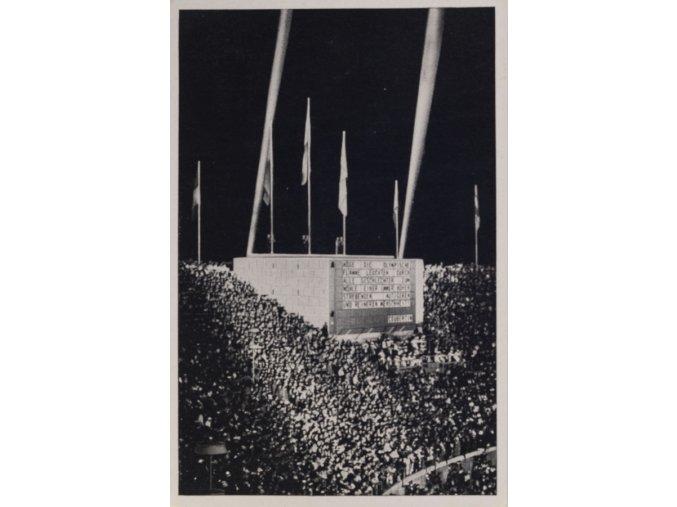 Kartička Olympia 1936, Berlin. Stadion