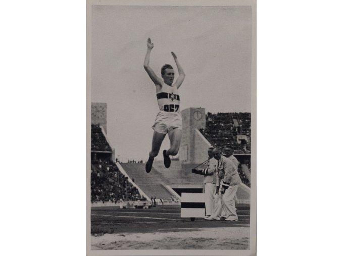 Kartička Olympia 1936, Berlin. Jesse Owens 1