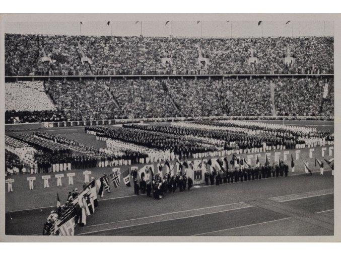 Kartička Olympia 1936, Berlin. Vlajkonoši 1