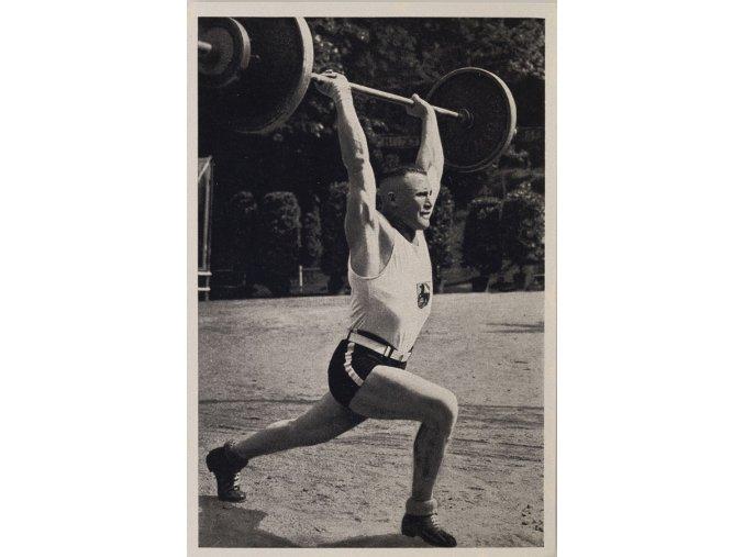 Kartička Olympia 1936, Berlin. Janssen ( Essen ) 1