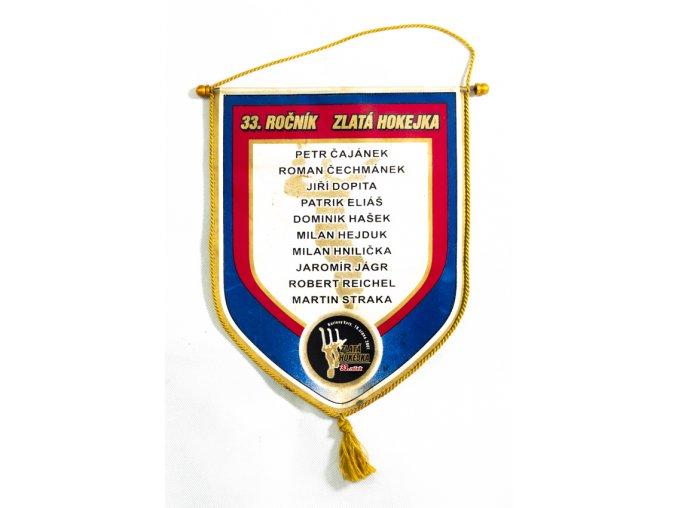 Klubová vlajka hokej, Zlatá hokejka, 33. ročník, autogramy (1)
