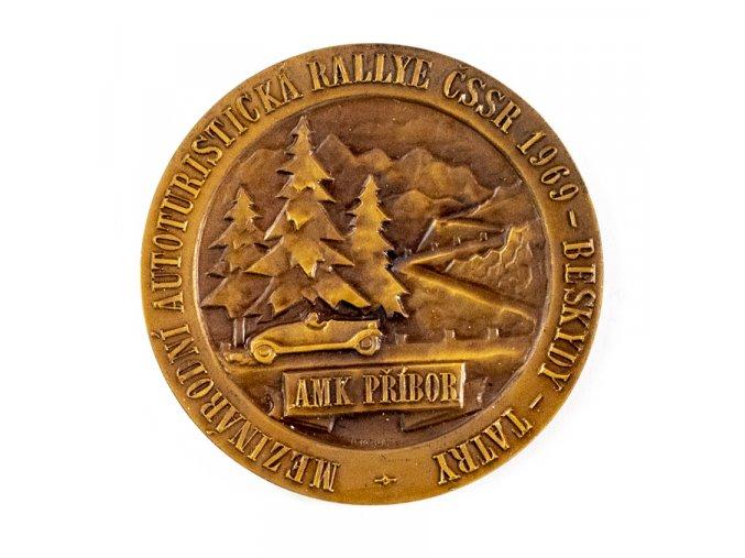Medaile, mezinár. autoturistická rallye Beskydy Tatry, 1969 (2)