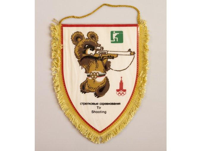 Vlajka klubová Olympiáda 1980 Tir Shooting