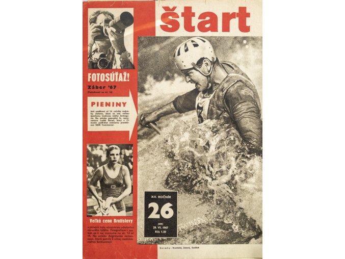 Časopis ŠTART, ročník XII, 29. VI. 1967, číslo 26 (1)