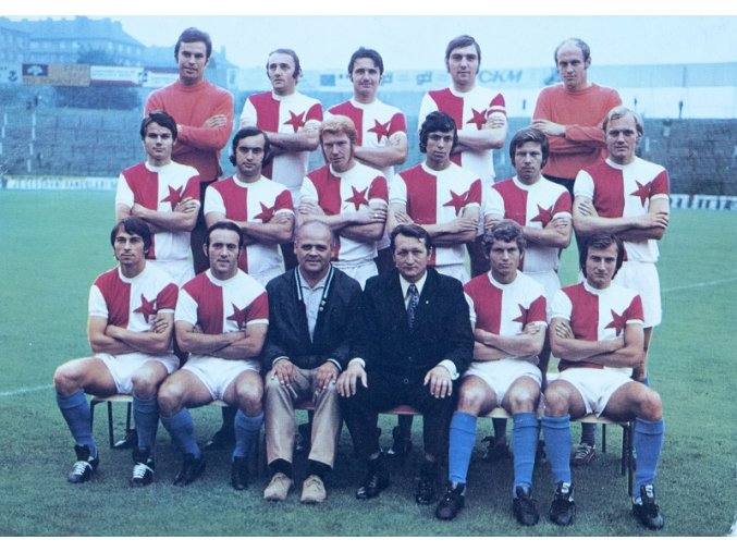 Pohlednice SK SLAVIA PRAHA tým 1972