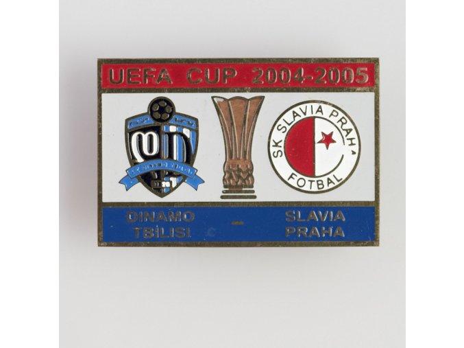 Odznak UEFA CUP Dinamo Tbilisi vs Slavia 2004 2005 Red Blue