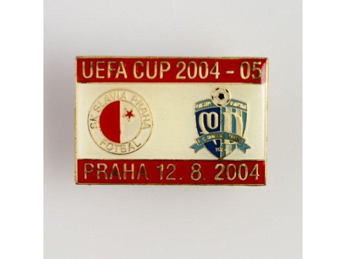 Odznak UEFA CUP Dinamo Tbilisi vs Slavia 2004 2005 Red