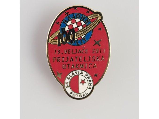 Odznak přátelské utkání Hajduk Split vs Slavia 2011 Red