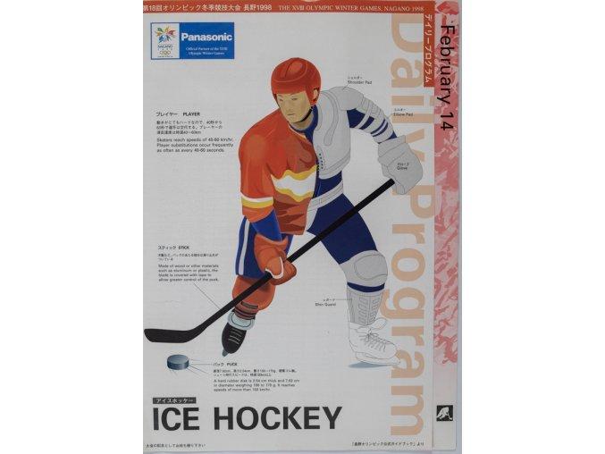 Program Nagano, Ice Hockey,1998 (1)