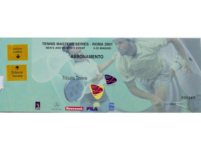 Vstupenka Tennis Master Series, Roma, 2001