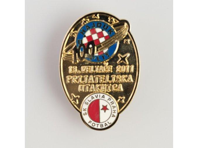 Odznak přátelské utkání Hajduk Split vs Slavia 2011 Red 3