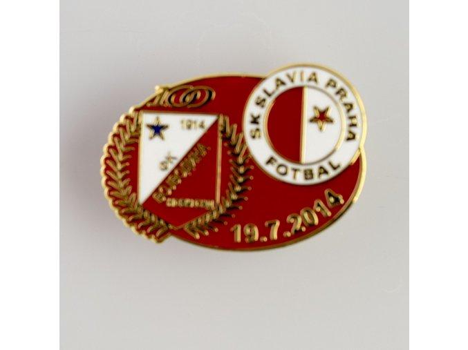 Odznak přátelské utkání Vojvodina Novij Sad vs Slavia 2014