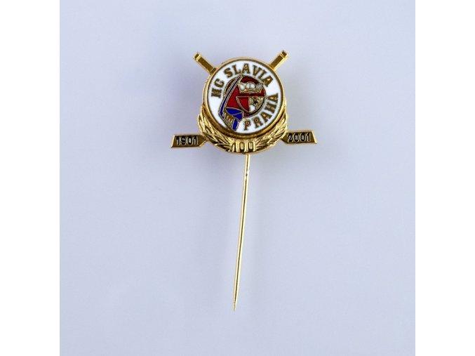 Odznak HC SLAVIA PRAHA 100 let