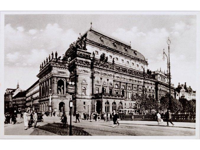 Pohlednice Praha Národní divadlo, SK SLAVIA PRAHA