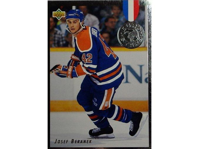 hokejova karticka josef beranek 1992