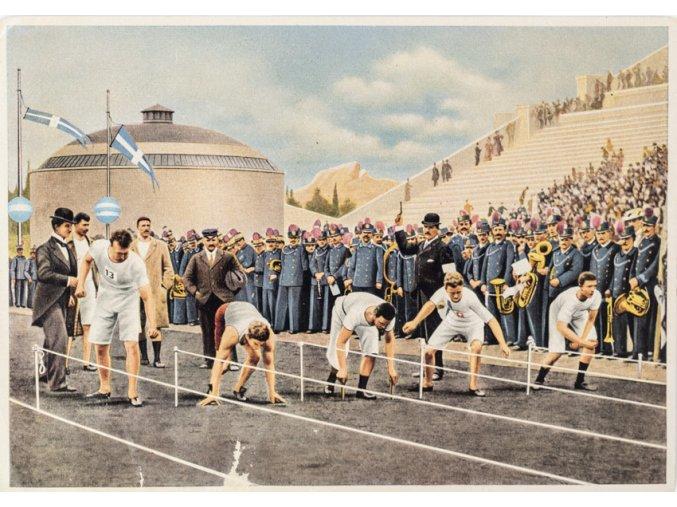Kartička Olympia 1936, Berlin. Olympia Athen 1896 (1)