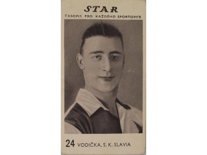 Kartička z časopisu STAR, 24 VODIČKA , S.K.SLAVIA