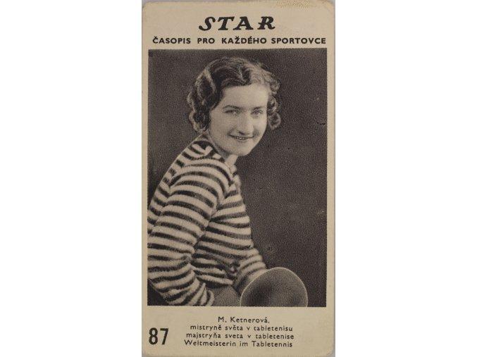 Kartička z časopisu STAR, M.Ketnerová, Č.S.R.