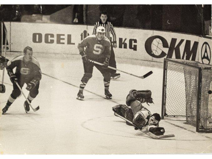 Fotografie hokej, momentka z utkání Sparty