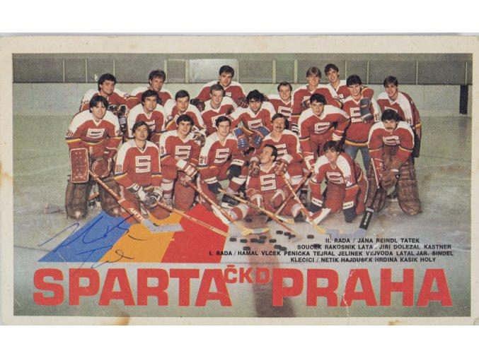 Podpisová karta, Sparta ČKD Praha, autogramy 2 (1)